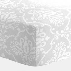 Gray Damask Crib Sheet | Carousel Designs