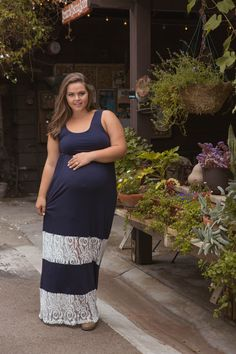925597ddc7eb3 Add some feminine flair to your casual everyday summer maternity maxi dress  thanks to the delicate