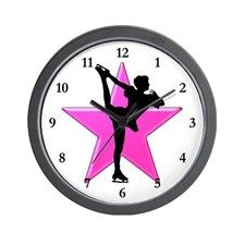 ICE SKATING QUEEN Wall Clock Keep motivated looking every day at our Figure Skating clocks.  http://www.cafepress.com/sportsstar/10189550 #Figureskater #IceQueen #Iceskate #Skatinggifts #Iloveskating #Borntoskate #Figureskatinggifts #PersonalizedSkater #Skaterclock