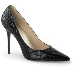 CLASSIQUE-20SP - 4 inch Snakeskin style Pointed-Toe Pump