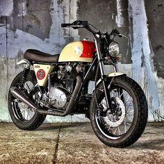 "megadeluxe:Yamaha XS 6501978 ""The Louder"" by Studio Motor. #yamaha #motorcycle #caferacer #motorsports #megadeluxe  #tw"