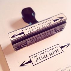 CUSTOM BOOKPLATE STAMP - more custom stamps avail. That are this rad. $20