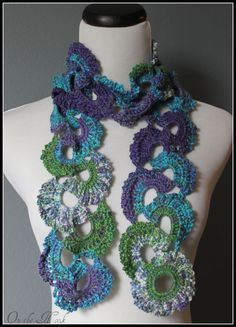 Ombre Multicolor Varigated Queen Anne's Lace Crochet by OnTheHook