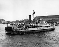 08-29-1950. Ferry crossing Het IJ heading to Amsterdam-Noord. The ferry was the only connection between  Amsterdam and the northern part of the city until the IJ Tunnel was finished in 1966. #amsterdam #1950 #HetIJ