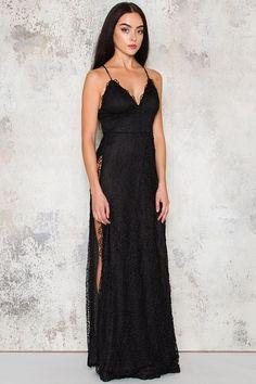 Shadow maxi dress