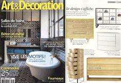 Arte and decoration publication, Touch sideboard! #press #artedecoration #touch #sideboard #wewood