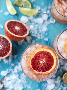 Blood Orange Tequila Fizz cocktail recipe | howsweeteats.com