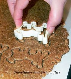 simple doggie treats - I'll try without the stockcube - because of the salt added to them
