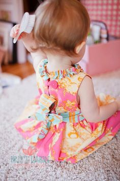 Baby Girl Party Dress  Opal Owl dress by LottieDaBaby on Etsy
