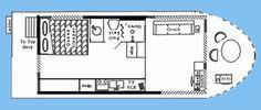 House boat floor plan