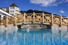 New outdoor swimmingpool at Hotel Ullensvang, Hardangerfjord, Norway. www.hotel-ullensvang.no