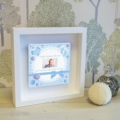 TWINKLE TWINKLE Little Star Shadow Frame Photo Frame New Baby Boy Christening