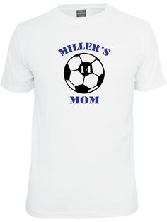 Personalized Soccer Mom Shirt.  In White or Gray. by PinkPigPrinting on Etsy