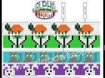 Alpha Loom Patterns | Rainbow Loom, an educational rubber band craft for children.