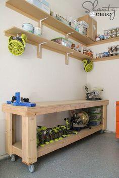 49 Free DIY Workbench Plans & Ideas to Kickstart Your Woodworking Journey. workbench organization See this wonderful item.