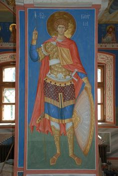 foto van N Theologhia Baba. Byzantine Icons, Byzantine Art, Religious Images, Religious Art, Pictures Of Jesus Christ, Archangel Raphael, Icon Collection, Saint George, Orthodox Icons
