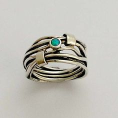 Sterling silver unisex wrapped ring with blue opal - Love of my life