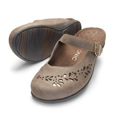 Find women's VIONIC Midway clogs in taupe at Becker Shoes online.