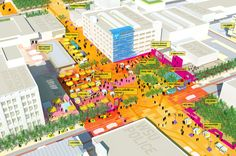 Article source: Sasaki Associates TechTown—an emerging knowledge district in Midtown Detroit—is currently characterized by surface parking, vacant properties, and inward-facing, siloed hubs of activity. The TechTown District Plan-articulates an . Urban Landscape, Landscape Design, Landscape Plans, The Plan, How To Plan, Autocad, Landscape Architecture Magazine, Architecture Portfolio, Rendering Architecture