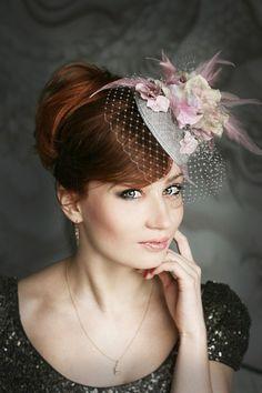 Tender pink little hat | Evening hats on Behance