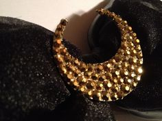 Luna Gold  Sailor Mooninspired Black Bow with by CRSparkleGalaxy, $40.00