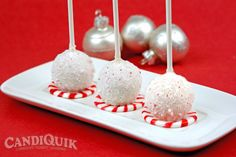 Vanilla Peppermint Cake Pops perfect for Christmas :)
