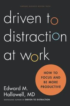 Hallowell, known for his work with children and adults, now identifies the underlying reasons why people really lose their ability to focus at work--where many of today's adults feel distracted and unproductive. He explains why commonly offered solutions like 'learn to manage your time better' or 'make a to-do list' just don't work because they don't address the deeper, underlying issues of mental distraction
