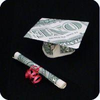money mortarboard graduation cap