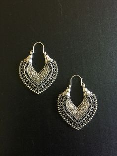 Earrings Heart Silver Moroccan Ethnic Boho Tribal Arabic Afghan Bohemian Kuchi in Jewellery & Watches, Costume Jewellery, Earrings   eBay