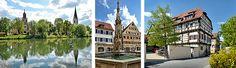Ehinger Neckarufer / Gotischer Marktbrunnen / Nonnenhaus © Stadtverwaltung Rottenburg am Neckar / Steffen Schlüter