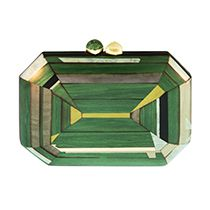 Geometric Green Clutch