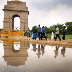 Hours after the Met department announced the possibility of the southwest monsoon making an appearance in Delhi within this week, several parts of Delhi witnessed heavy showers that continued till Wednesday evening.