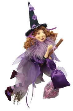Jazz  Glamour Witch Doll - Purple