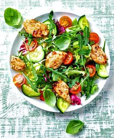 Perfectly Marinated Thai Chicken over Zesty Greens: Thai Grilled Chicken Salad - 'makes grown men cry!'