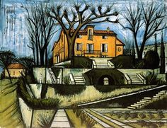 "Bernard Buffet ""La Baume, les Terrasses"", 1987 (France, Expressionism, 20th cent.)"