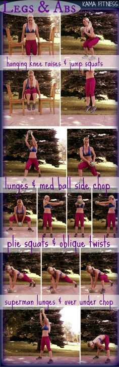 Legs & Abs Superset from Kama Fitness Kama Fitness, Fitness Diet, Health Fitness, Fitness Legs, Body Fitness, Medicine Ball Abs, Squats And Lunges, Jump Squats, Best Ab Workout