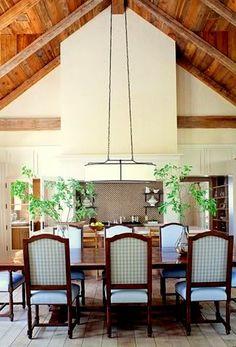 Designer Christie Hanson  love the ceiling