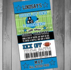 Carolina Panthers Inspired Football Baby Shower by CLaceyDesign, $15.00