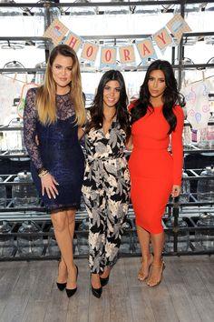 July 2014: w/ Khloe & Kourtney Kardashian at Babies'R'Us event in Jersey City, New Jersey
