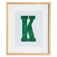 K tavle i gruppen Bilder & Posters / Tavler / Tavler med ramme hos House Doctor, Symbols, Posters, Art, Art Background, Icons, Poster, Kunst, Postres