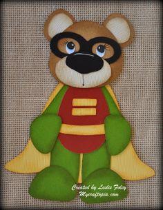 Robin Bear Premade Scrapbooking Embellishment Paper by MyCraftopia, $4.95