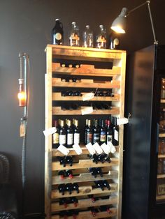 Pallet Wine Rack {Tap Station-Seattle}