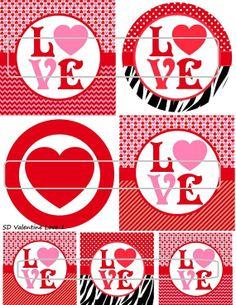 DIY Printable Valentine Love 1 Shrinky Dinks Digital by MaddieZee, $1.25
