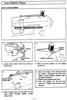 Pfaff 1196, 1197, 1199, 1209 Sewing Machine Instruction