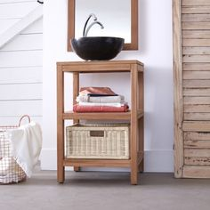 Tikamoon Crafted from solid teak wood with a contemporary design, this unit is perfect for organising bathroom essentials. Under Sink Storage Unit, Under Sink Organization, Solid Wood Furniture, Diy Furniture, Bathroom Wash Stands, Bathroom Sinks, Bathroom Shelves, Bathroom Ideas, Eclectic Bathroom