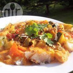 Brazilian fish stew with paprika, cumin