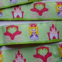 Ruban tissé Princesses 16mm