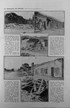 Revista Zig-Zag. Terremoto de Copiapó 4 diciembre de 1918.
