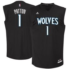 4b4efe08f Justin Patton Minnesota Timberwolves adidas 2017 NBA Draft  1 Pick Replica  Jersey - Black