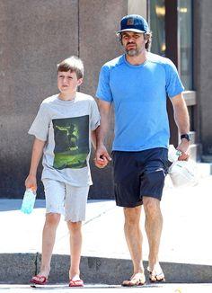 Mark Ruffalo Photos - Actor Mark Ruffalo and his son, Keen Ruffalo, were seen taking a stroll through New York, New York on July 22, 2012. - Mark Ruffalo and Son Keen Walk in New York